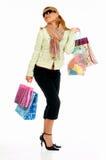 shopping för 2 flicka Arkivfoton