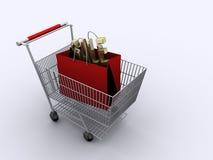shopping för 2 vagn Royaltyfri Fotografi