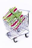 shopping för askvagnsgåva Royaltyfri Bild
