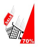 shopping för försäljning för kortetikett pecentual Royaltyfria Foton