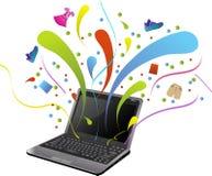 shopping för kommers e stock illustrationer