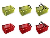 shopping för korg 3d Stock Illustrationer