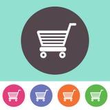shopping för serie för vagnssymbol röd Arkivbild