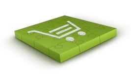 shopping för sjunkande för vagnspimpelpussel royaltyfri illustrationer
