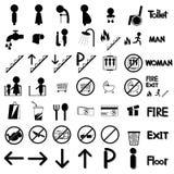 Shopping för toalett för vektorsymbolsymbol vektor illustrationer