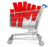 shopping för vagn 3d royaltyfri illustrationer