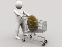 shopping för vagnseaster ägg Arkivfoton