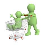 Shopping family Stock Photo