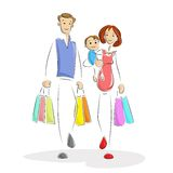Shopping Family Royalty Free Stock Photos