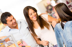 Shopping family buying clothes Stock Photo