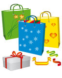Shopping for a family holiday vector illustration