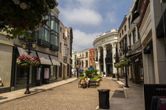 Shopping at famous Rodeo Drive, Beverly Hills Stock Photo