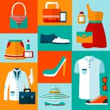 Shopping fashion design elements Royalty Free Stock Images