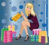 Shopping fashion girl ,  Royalty Free Stock Photo