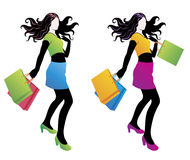 Shopping fashion girl. Stock Images