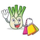 Shopping fennel character cartoon style. Vector illustration Royalty Free Stock Image