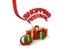 Shopping festival offer concept. In white background Stock Image
