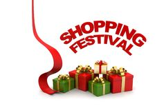 Shopping festival offer concept. In white background Royalty Free Stock Photography