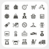Shopping and Finance icons set. EPS10, Dont use transparency Royalty Free Stock Image