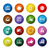 Shopping flat colored buttons set 02 Royalty Free Stock Images