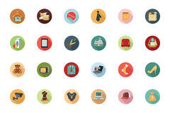Shopping Flat Colored Icons 2 vector illustration