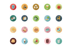 Shopping Flat Colored Icons 4 Royalty Free Stock Photo