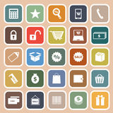 Shopping flat icon on orange background Stock Image