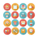 Shopping flat icons set Royalty Free Stock Image
