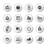 Shopping flat icons set 02 Stock Photos