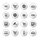 Shopping flat icons set 03 Royalty Free Stock Images