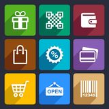 Shopping Flat Icons Set 35 Stock Images