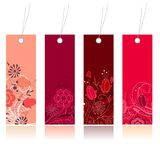 Shopping floral tags for any seasons Royalty Free Stock Photo