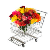 Shopping flowers Stock Photo