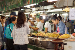 Shopping for food in Thai local market Royalty Free Stock Photo