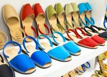 Shopping For Avarca Menorca Sandals Stock Photography