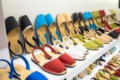 Shopping For Avarca Menorca Sandals Stock Photos