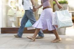 shopping för parben s Arkivfoton