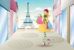 Shopping  in france Royalty Free Stock Photography