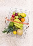 Shopping for fresh fruit Stock Photography