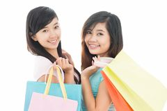 Shopping with friend Royalty Free Stock Image