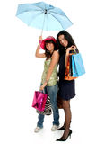 Shopping with friend Stock Image