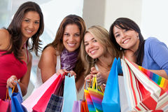 Shopping friends Royalty Free Stock Image