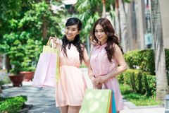 Shopping friends Royalty Free Stock Photos