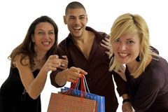 Shopping friends Royalty Free Stock Photo