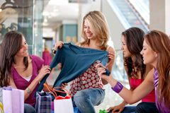 Shopping friends Stock Image