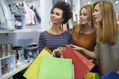 Shopping with friends. Shopping with the best friends Royalty Free Stock Images