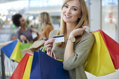 Shopping with friends Royalty Free Stock Images