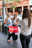 Shopping friends photo Stock Image
