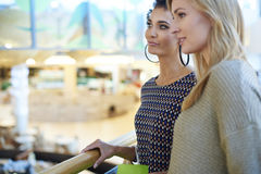 Shopping with friends stock images