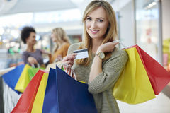 Shopping with friends Royalty Free Stock Photo